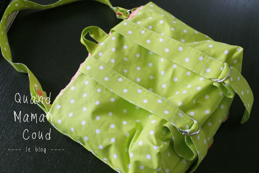 sac à dos avec poulpe en minkee quand amman coud